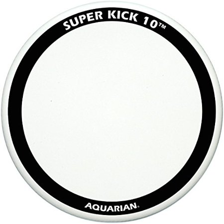 Aquarian Super-Kick 10 Bass Drum Head, White Coated, 26 in.