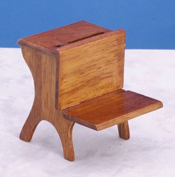 Dollhouse School Desk, Walnut