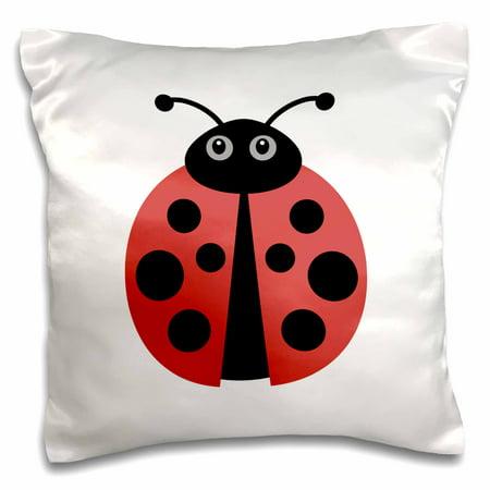 3dRose Cute cartoon ladybug - Pillow Case, 16 by 16-inch