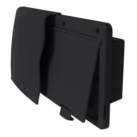 """JR Products 50045 Endura Range Vent - 1-1/2"""" Flange, Black"""