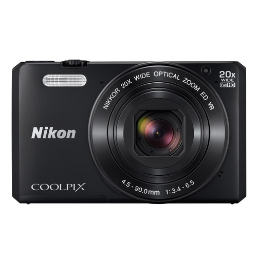 Nikon Black COOLPIX S7000 Digital Camera with 16 Megapixels and 20x Optical Zoom