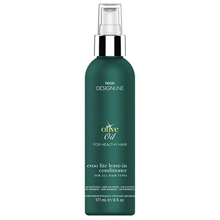 Olive Oil EVOO Lite Leave-in, 6 oz - DESIGNLINE - Leave-In Conditioner Treatment Restores Dry and Damaged Hair without Build-Up and Protects Against Damage, Dryness, and Color Fading Neem Hair Treatment Oil