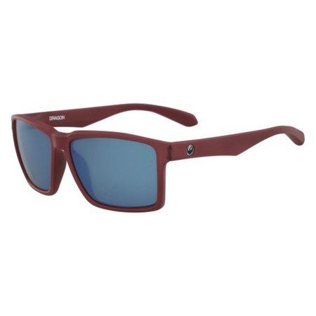 Dragon Alliance DR Method Sunglasses Matte Redwood Frames with Blue (Method Sunglasses)