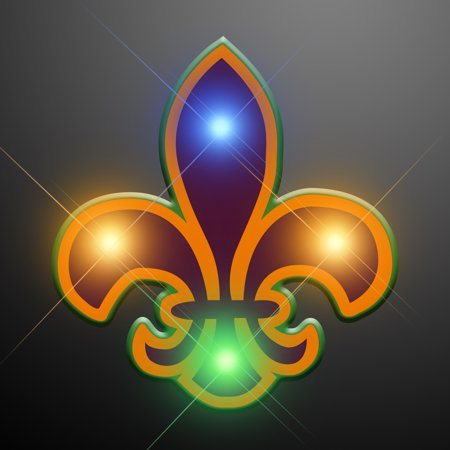 Fleur De Lis Island Light (FlashingBlinkyLights Fleur De Lis Body Lights (Set of)