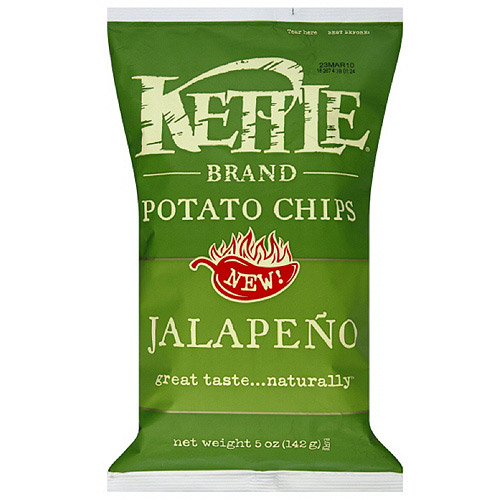 Kettle Brand Hot Jalapeno Potato Chips, 5 oz (Pack of 15)