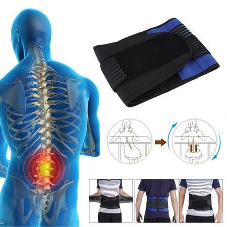 Neoprene Belt Double Pull Lumbar Lower Waist Back Support Brace Pain Relief
