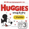 HUGGIES Snug & Dry Diapers, Size 3, 210 Count
