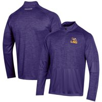 Men's Russell Athletic Heathered Purple LSU Tigers Athletic Fit Quarter-Zip Pullover Jacket