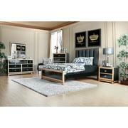 black king size bedroom sets. Classic Black  Gold Finish Bedroom 4pc Set Est King Size Bed Dresser Nightstand w Hidden Sized Sets