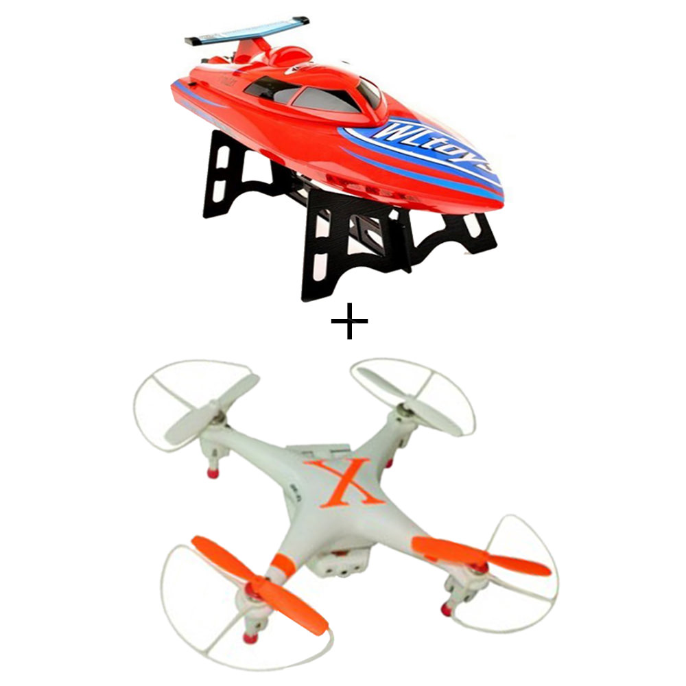 Toytexx Cheerson CX-30W Real time image transmission Drone + Toytexx WLToys WL911 2.4GHz Radio Control R/C High Speed Racing Boat - image 1 de 1