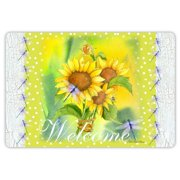 Drymate Spring/Summer Collection Welcome Mat - Summer Sunflowers