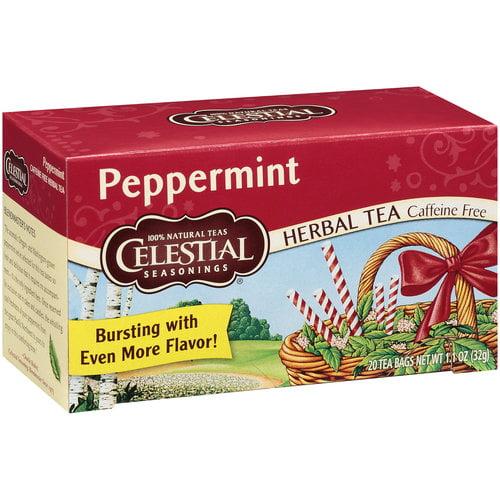 Celestial Seasonings Peppermint Herbal Tea, 20ct