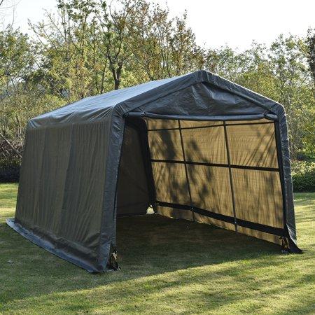 Outdoor Car Storage >> Walcut Outdoor 10x15x8ft Carport Canopy Tent Car Storage Shelter Garage W Sidewall