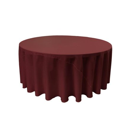LA Linen TCpop120R-BurgundyP17 Polyester Poplin Tablecloth, Burgundy - 120 in. Round - image 1 of 1