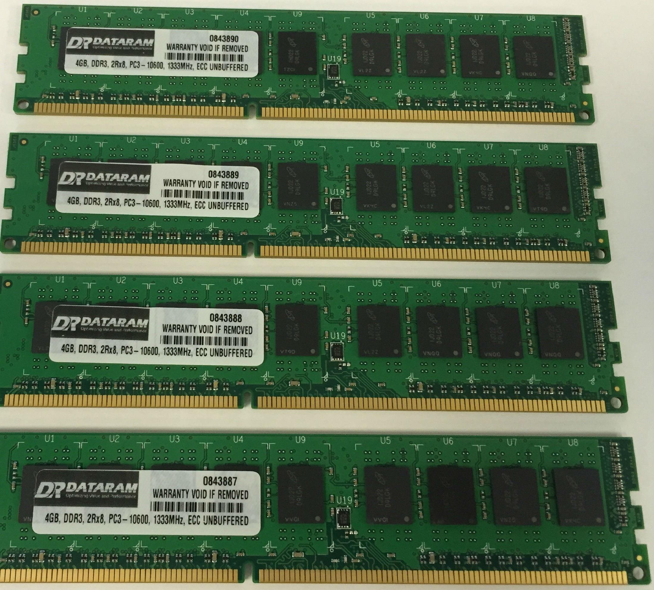 Dataram 16GB KIT (4 X 4GB) MEMORY FOR Lenovo ThinkServer ...