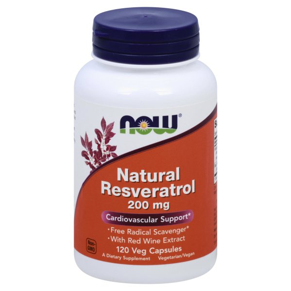Now Foods Natural Resveratrol 200mg 120 Vegetable Capsules