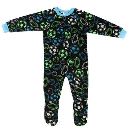 Prince of Sleep - Prince of Sleep Footed Pajamas   Micro Fleece Blanket  Sleepers (Black with Neon Balls 88f8b6f97