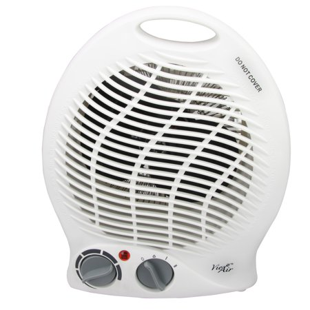 - Vie Air 1500W Portable 2-Settings White Home Fan Heater with Adjustable Thermostat