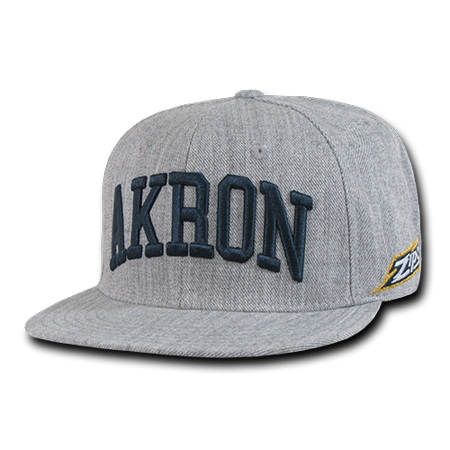 Game Hat (NCAA AkronUniversity  6 Panels Game Day Snapback Baseball Caps Hats Heather Grey )