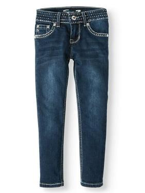 Seven7 Sequin Waistband Skinny Jean (Big Girls)