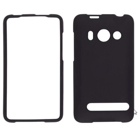 Wireless Solutions Soft Touch Snap-On Case for HTC EVO 4G - Black Htc Touch Black Snap