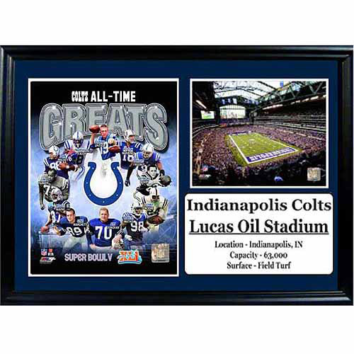 NFL 12x18 Photo Stat Frame, Indianapolis Colts Greats