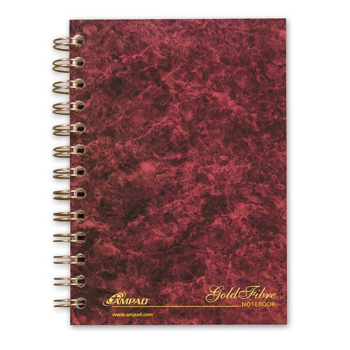 "Ampad Gold Fibre Designer Personal Notebook - 100 Sheet - Legal/narrow Ruled - 5"" X 7"" - 1 Each (AMP20803)"