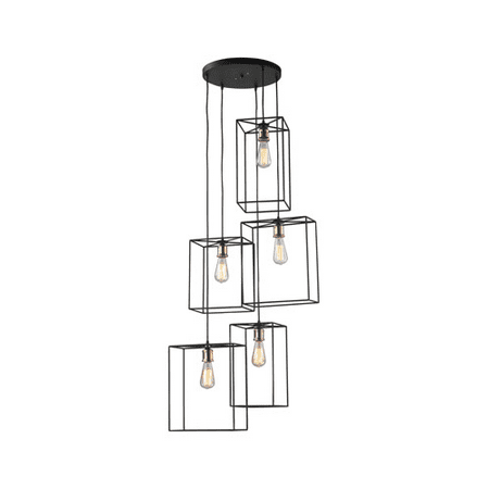 Pendants 5 Light With Oil Rubbed Black Finish Metal Material E26 Bulb Type 63 inch 500 Watts