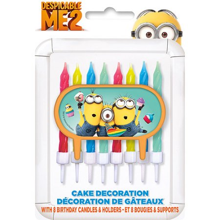 (4 Pack) Despicable Me Cake Topper with 8 Candles
