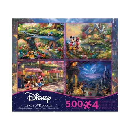 Thomas Kinkade Disney Dreams - 4-in-1 Jigsaw Puzzle Multi-Pack Series 5: 4 x 500 Pcs