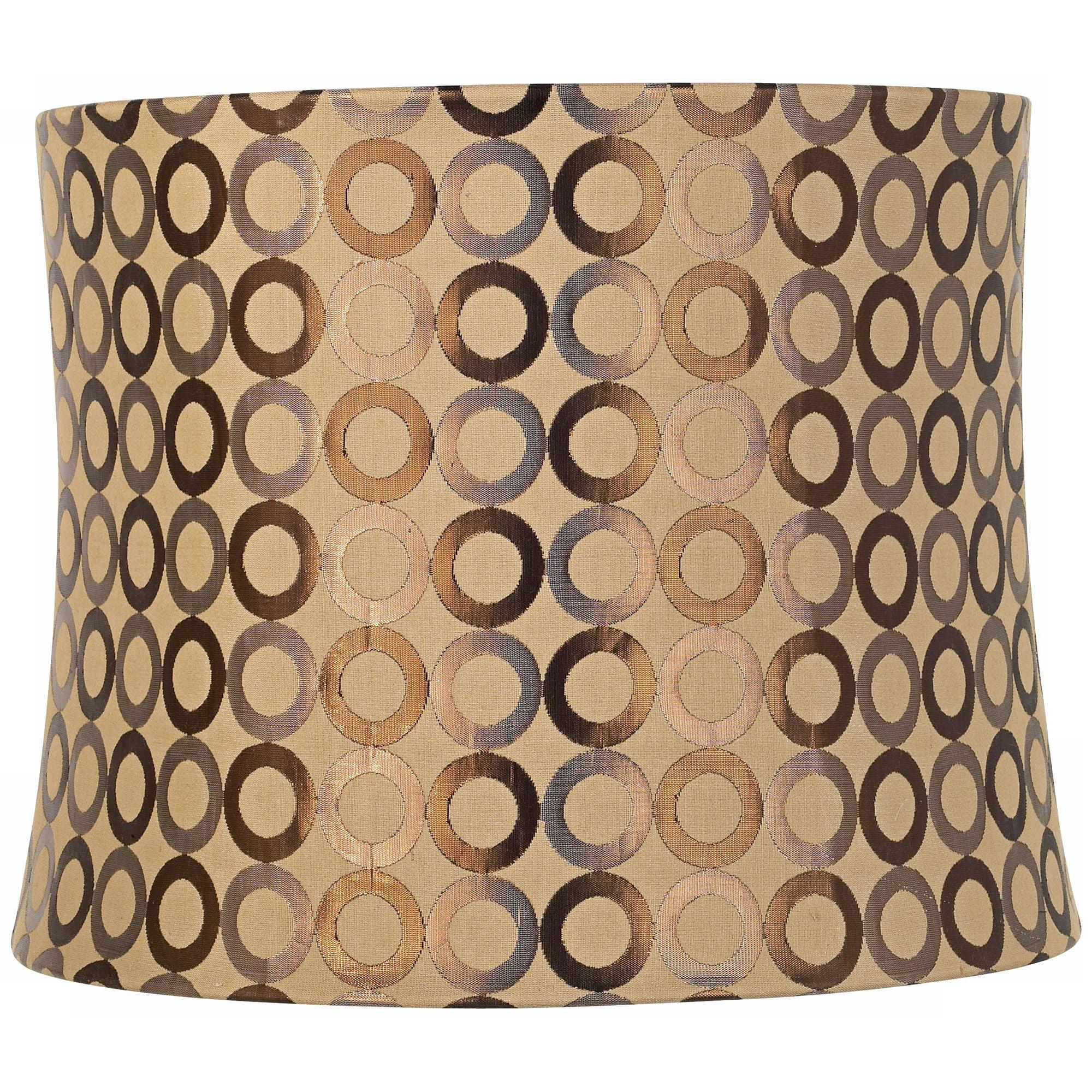 Springcrest Copper Circles Drum Lamp Shade 13x14x11 (Spider)