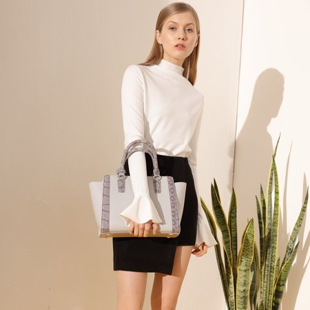 Kadell Women Fashion Purse Handbag Top-handle Cross Body Purse Elegant Durable PU Leather Tote Bag  - image 6 of 9