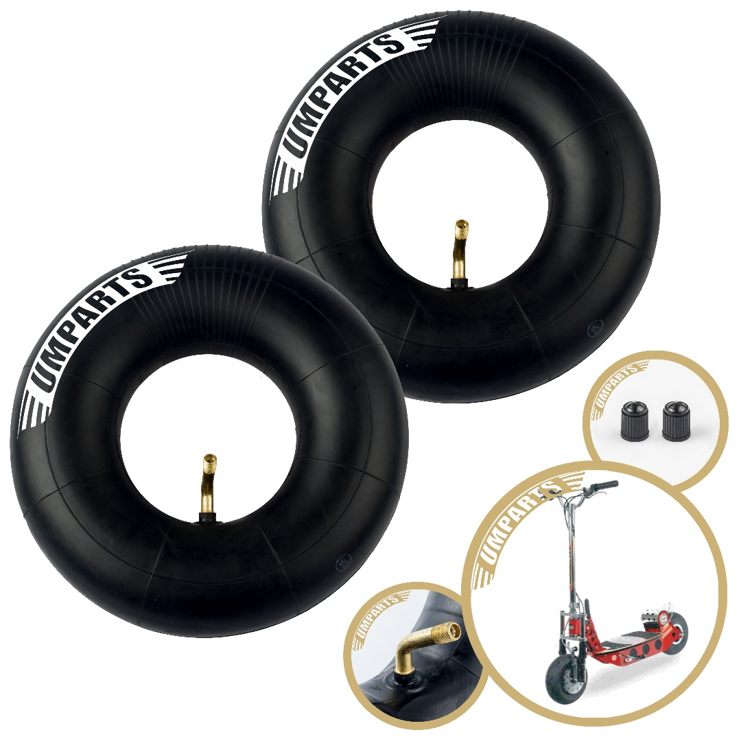 "3.00-4, 10""x3"", 260x85mm, Bladez XTR Comp 450 Scooter Front / Rear Wheel Tire Inner Tube innertube Replacement (Set of 2)"