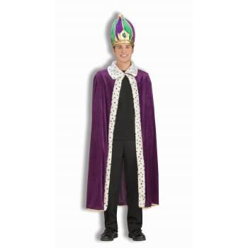 MARDI GRAS ROBE & CROWN SET (Mardi Gras Costumes Plus Size)