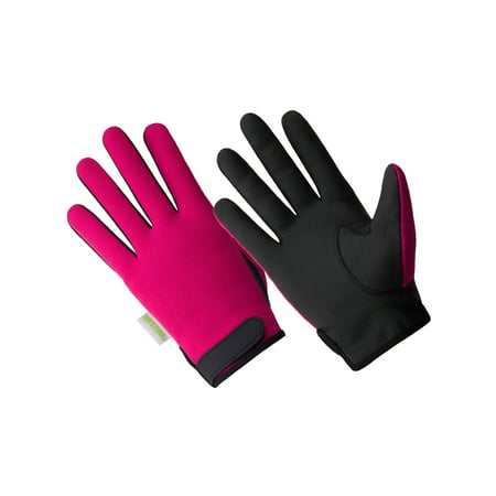 HD0501-M/L, Ladies Hi Dexterity 100% Waterproof Palm Printed Black Sereno - Black Lighting Gloves