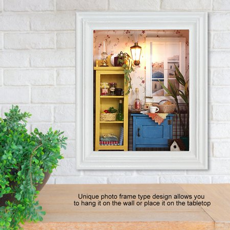 Ejoyous House Toy Kit, DIY House Kit,DIY Dollhouse Photo Frame Design Warm House Kit with Furniture Birthday Gifts Home Decoration - image 1 of 8