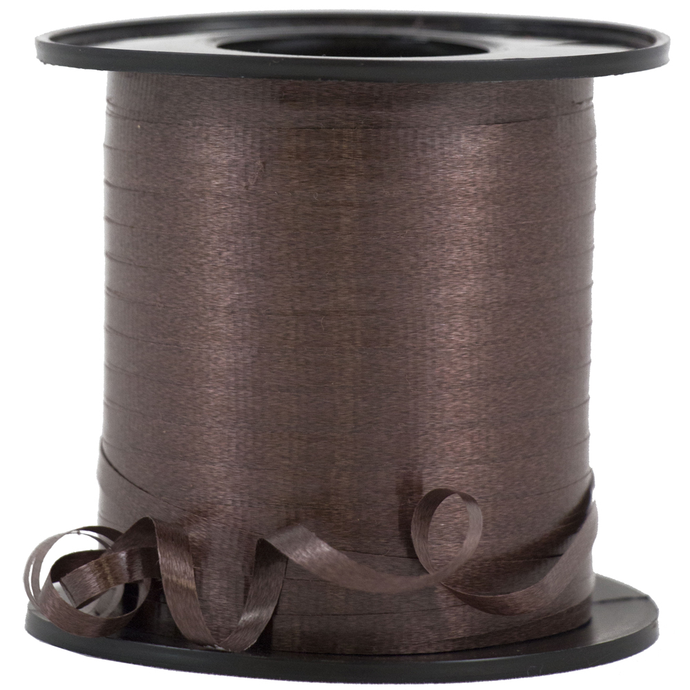 JAM Paper Curling Ribbon,3/8 x 250 Yards, Chocolate Brown, Rolls sold individually