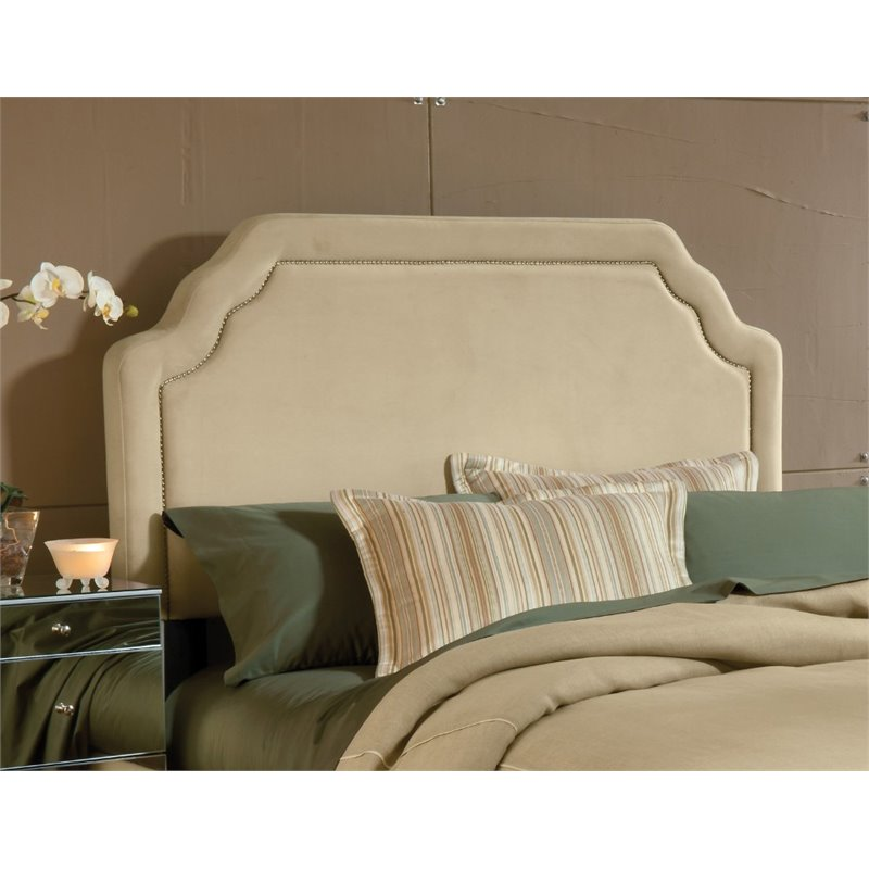 Hillsdale Carlyle Upholstered King Panel Headboard in Beige