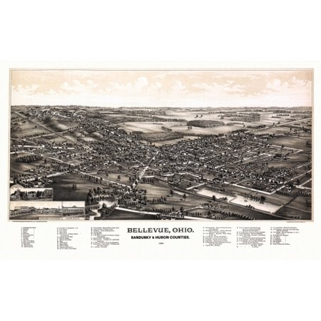Old Map of Bellevue Ohio 1888 Sandusky & Huron County Poster Print Sandusky City Map on elyria city map, waxahachie city map, springboro city map, dunkirk city map, grinnell city map, encinitas city map, traverse city city map, zeeland city map, hancock city map, cuyahoga city map, hemet city map, boardman city map, ironwood city map, west carrollton city map, pomeroy city map, geauga county city map, potterville city map, ludington city map, novi city map, ravenna city map,
