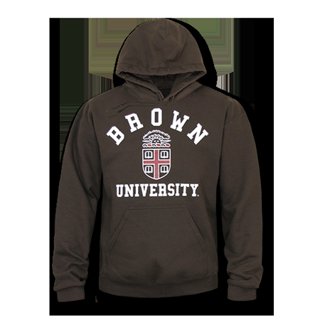 172b9cdc NCAA Brown University Freshmen Pullover Sweatshirt Hoodie Game Day Fleece  Brown Large