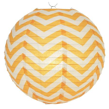 Orange Lanterns (Quasimoon Orange Chevron Paper Lantern, Hanging Decoration by)