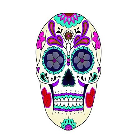 VWAQ Dia De Los Muertos Decals Sugar Skull Mask Wall Decal Murals Spirits Souls Day of the Dead Wall Art Decor Stickers Party Calavera Fiesta Sugar Skull Wall Tattoo