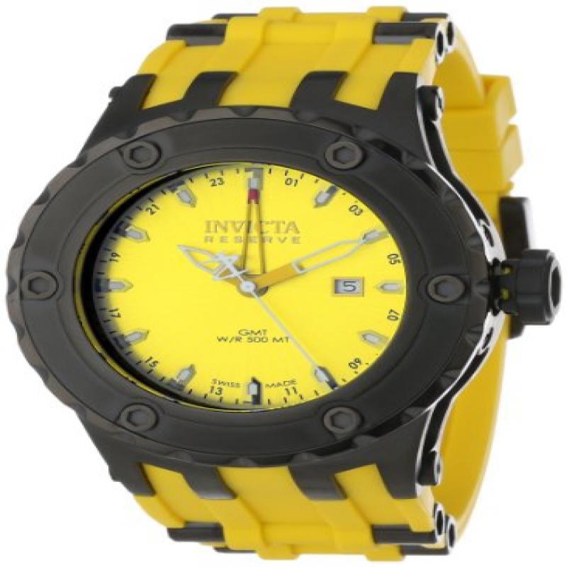Invicta Men's 12049 Subaqua Reserve GMT Yellow Dial Yello...