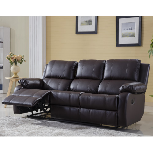 Classic Bonded Leather Oversize Double Recliner Sofa  sc 1 st  Walmart : sectional with recliner - Sectionals, Sofas & Couches