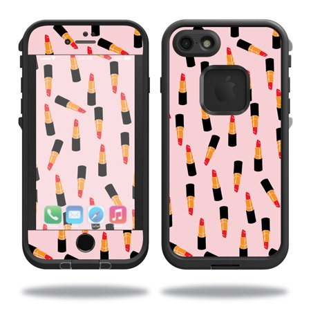 MightySkins Protective Vinyl Skin Decal for Lifeproof iPhone 7 Case fre Case wrap cover sticker skins Lipstick Pattern