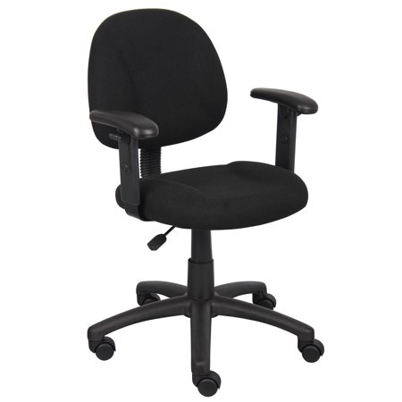 Boss Office & Home Black Perfect Posture Deluxe Office Task Chair with Adjustable - Perfect Posture Chair