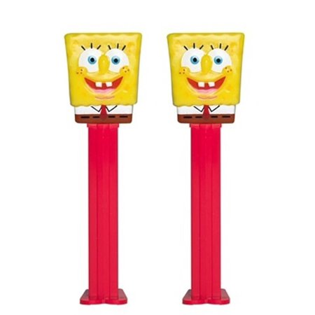 Nickelodeon Spongebob Squarepants PEZ Dispenser with Candy Refills, Pack of 2 (Spongebob Squarepants)](Spongebob Candy)