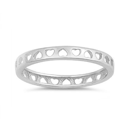 Sterling Silver Little Heart Stackable Band