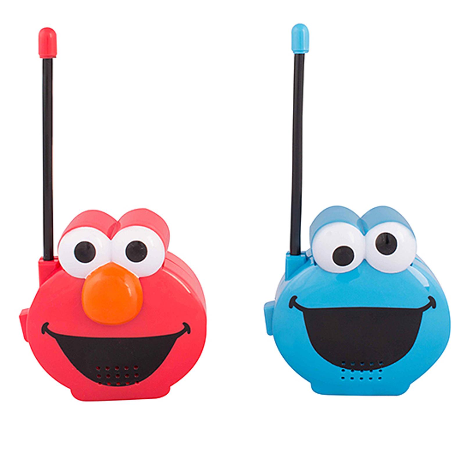 Sesame Street Molded Walkie Talkies, Elmo & Cookie Monster - Walmart.com