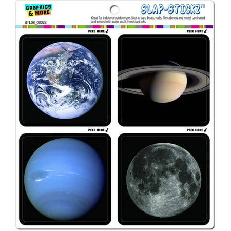 Planets in Space Earth Moon Saturn Neptune Automotive Car Window Locker Bumper